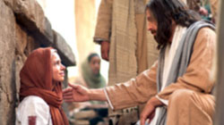 A Woman Touches Jesus' Clothes and is Healed