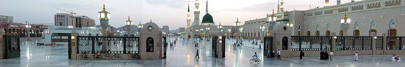 Al-Masjid al-Nabawi (the Mosque of the Prophet), Medina; Muhammad's Tomb